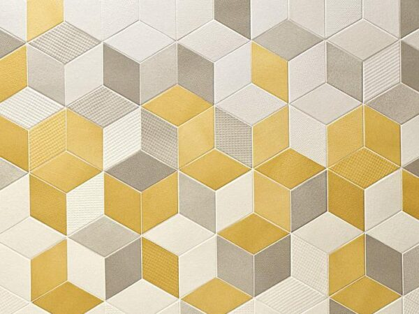 Керамогранит (кафель) 3D003 / Желто серый